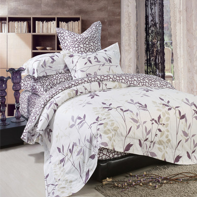 North Home - Iris 100% Cotton 4pc Duvet Cover Set