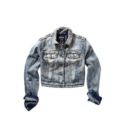 Silver Jeans Cropped Light Denim Jacket