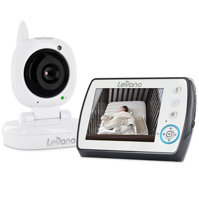 "Levana Ayden 3.5"" Digital Video Baby Monitor with Night Vision Camera, Temperature Monitoring, Two-way Intercom and Zoom"