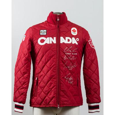 Women's Vancouver 2010 Bronze Medalist men four-man Autographed Podium Jacket