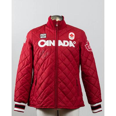Men's Vancouver 2010 Gold Medalist Christine Nesbitt Autographed Podium Jacket