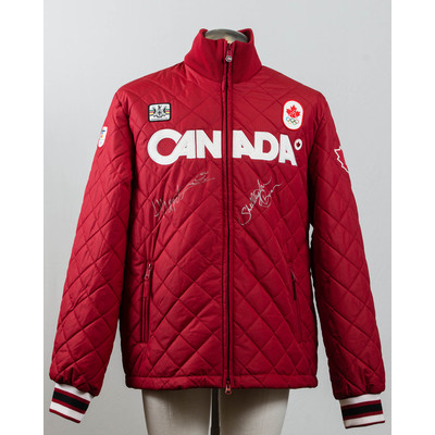 Men's Vancouver 2010 Silver Medalists Helen Upperton and Shelley-Ann Brown Autographed Podium Jacket
