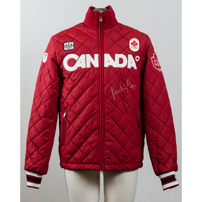Men's Vancouver 2010 Silver Medalist Kristina Groves Autographed Podium Jacket