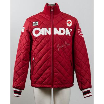 Women's Vancouver 2010 Silver Medalist Kristina Groves Autographed Podium Jacket