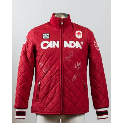 Women's Vancouver 2010 Gold Medalist men curling team Autographed Podium Jacket