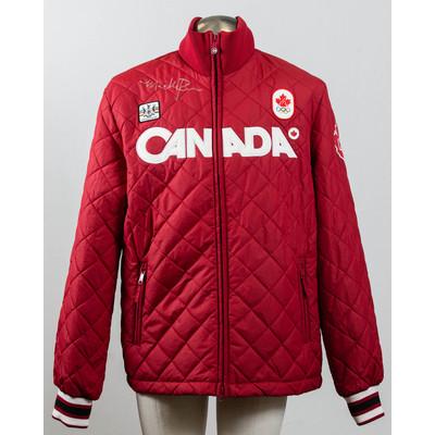 Women's Vancouver 2010 Gold Medalist Maëlle Ricker Autographed Podium Jacket
