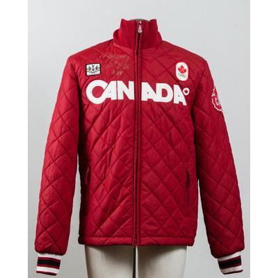 Women's Vancouver 2010 Silver Medalist Marianne St-Gelais Autographed Podium Jacket