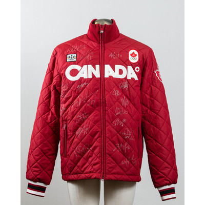 Men's Vancouver 2010 Gold Medalists women's hockey team Autographed Podium Jacket
