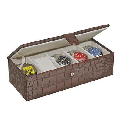 LEATHERETTE WACTH BOX (hold 5 big watches)