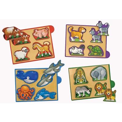 Melissa & Doug Animals Mini Puzzle Packs (4 pieces)