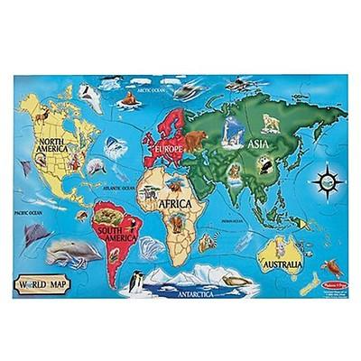 Melissa & Doug World Map Floor Puzzle (33 pieces)