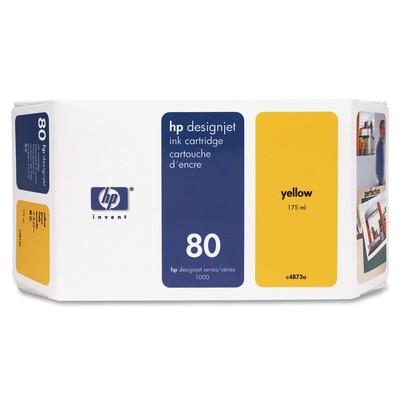 HP 80 Yellow Ink Cartridge