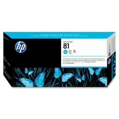 HP 81 Cyan Printhead/Cleaner
