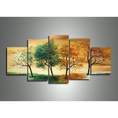 Floral Painting - Four Seasons Art Painting - 60 x 32in