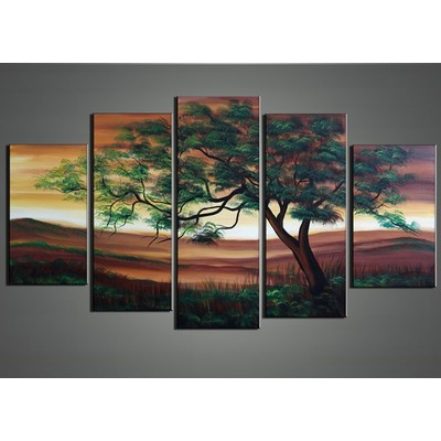 Green Tree Canvas Painting 60 x 32in