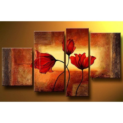 Textured Floral Art Painting - 50 x 32in