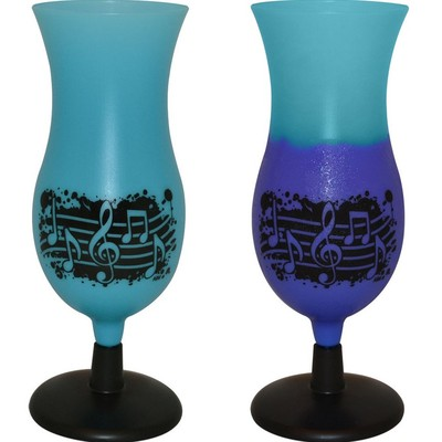 14oz Splatter Plastic Cup - Blue to Purple with Notes - Aim - 2130B