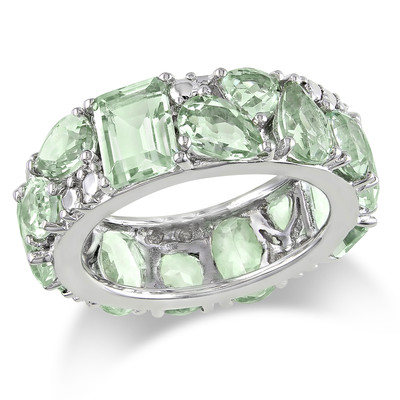 Amour Collection Sterling Silver Green Amethyst Ring