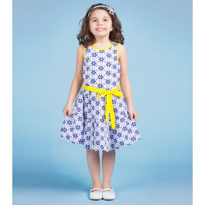 Gidget Loves Milo Fields of Joy 1-Piece Flared Patterned dress