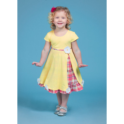 Gidget Loves Milo Gumdrop 1-Piece Infant and Girls' Dress with Diaper Cover