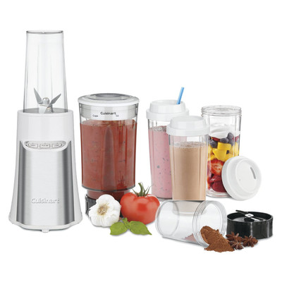 Cuisinart 15 Piece Compact Portable Blending/Chopping System, White (CPB-300WC)