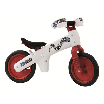Balance Bike B-BIP - White / Red ** ASSEMBLED **