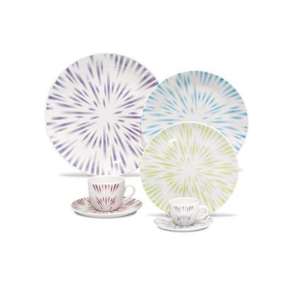 Karim Rashid Porcelain 30 Pieces Dinner/Espresso Set (Dust)