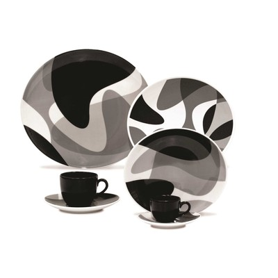 Karim Rashid Porcelain 20 Pieces Dinner/Espresso Set (Toss)