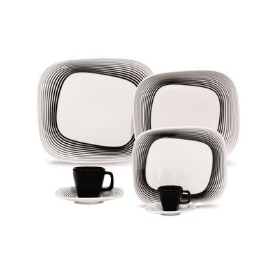 Karim Rashid Porcelain 20 Pieces Dinner/Espresso Set (Wisk)