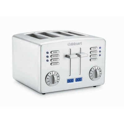 Refurbished-CUISINART CPT190 COUNTDOWN METAL 4 SLICE TOASTER-Manufacturer Recertified with 90 days Warranty