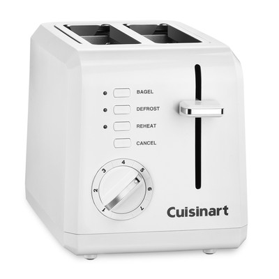 Cuisinart-Refurbished 2-Slice Compact Toaster, White (CPT-122C), Manufacturer Recertified