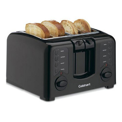Cuisinart-Refurbished-Compact 4SL Toaster CPT140BK-Manufacturer Recertified with 90 days warranty