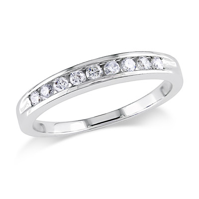 1/4 CT TW Channel Set Diamond Anniversary Ring in 14k White Gold