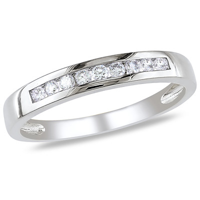 Amour Collection 10K White Gold Diamond Eternity Ring (.18 Cttw, G-H Color, I2-I3 Clarity)