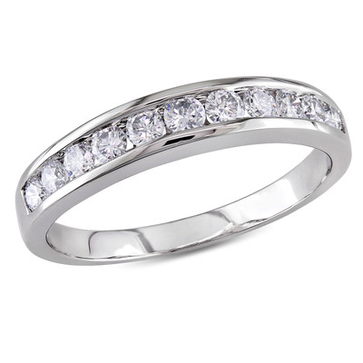Amour Collection 14K White Gold Diamond Eternity Ring (.5 Cttw, G-H Color, I1-I2 Clarity)
