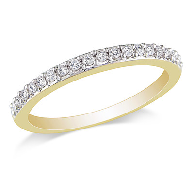 Amour Collection 10K Yellow Gold Diamond Stacked Ring (.24 Cttw, G-H Color, I2-I3 Clarity)