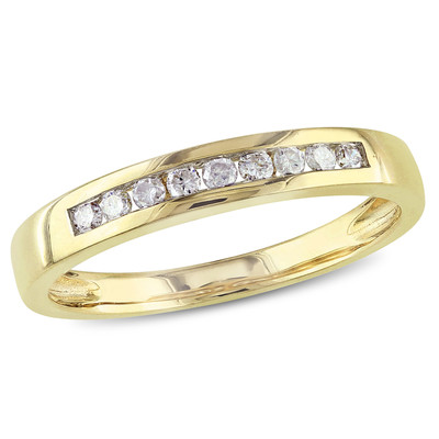 Amour Collection 10K Yellow Gold Diamond Eternity Ring (.18 Cttw, G-H Color, I2-I3 Clarity)