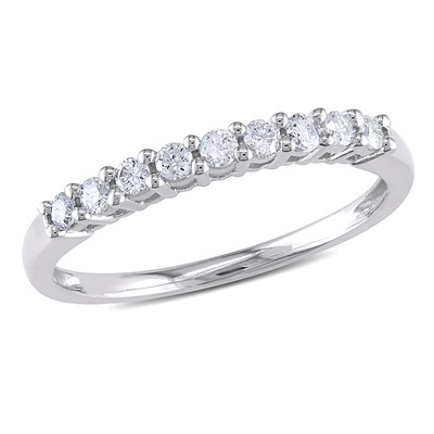 Amour Collection 10K White Gold Diamond Anniversary Ring (.24 Cttw, G-H Color, I2-I3 Clarity)