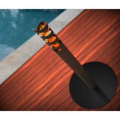 Volution Bio Ethanol Outdoor Fireburner In Gun Metal Grey