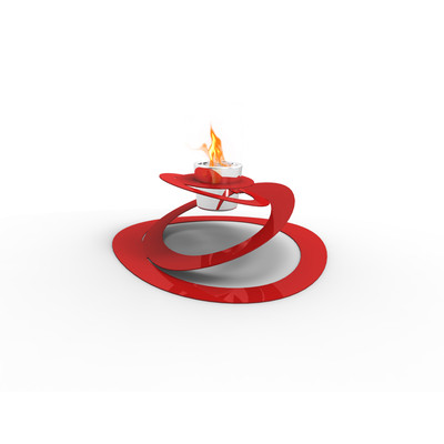 Ovia Bio Ethanol Indoor/Outdoor Fireburner In Red