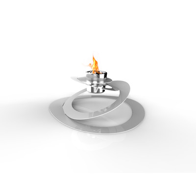Ovia Bio Ethanol Indoor/Outdoor Fireburner In White
