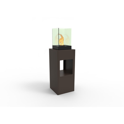 Vertikal Bio Ethanol Fireburner Stand and Display Unit In Espresso