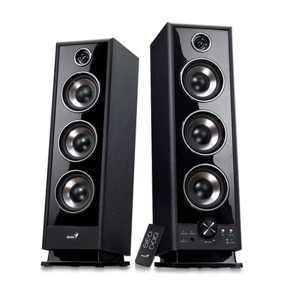 2 Piece SP-HF2020 V2 Hi-Fi Digital Black Wood Speaker