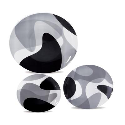 Karim Rashid Collection Porcelain Dinnerware Set with 12 Pieces - Toss