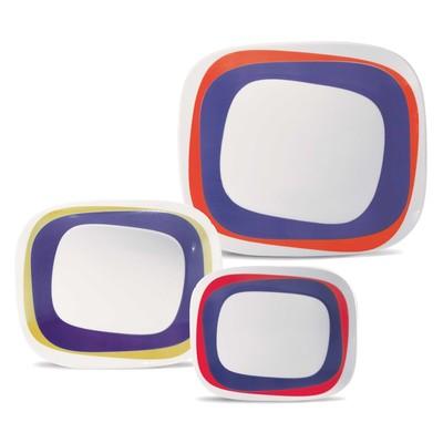 Karim Rashid Collection Porcelain Dinnerware Set with 12 Pieces - Koil
