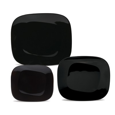 Karim Rashid Collection Porcelain Dinnerware Set with 12 Pieces - Black
