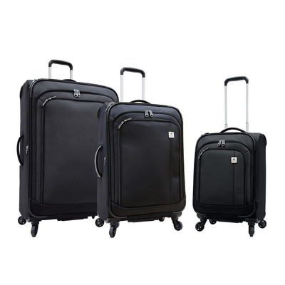 Samboro Feather Lite Spinners Luggage - 3 Piece Set (Black Color)