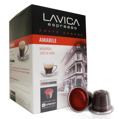 Amabile Espresso Medium Roast, Nespresso Compatible Capsules (120 Pack)