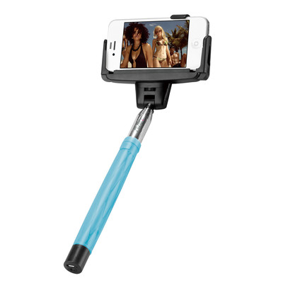 AViiQ extendable Bluetooth selfie wand - Blue