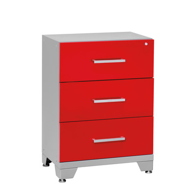 Performance Series Three Drawer Tool Cabinet Red